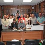 Foto di gruppo con i partecipanti al soggiorno organizzato dalla Comvers.