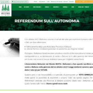"""197. Referendum del 22 ottobre: un voto """"simbolico"""" per gli emigranti che non potranno venire a votare. Questa la proposta dell'Associazione Bellunesi nel Mondo"""