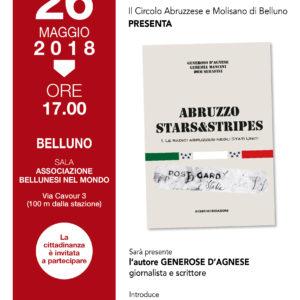 """207. Sabato 26 maggio alla Biblioteca delle migrazioni """"Dino Buzzati"""" presentazione del libro """"Abruzzo Stars & Stripes. Le radici abruzzesi negli Stati Uniti"""""""