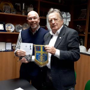 494. Il Rotary Club Belluno incontra l'Associazione Bellunesi nel Mondo con un saluto da Tenerife da parte del presidente onorario Vincenzo Barcelloni Corte