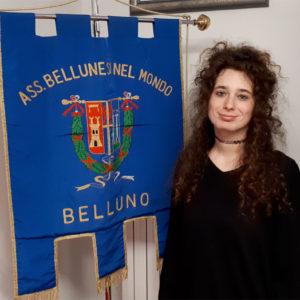 """25. Giulia Francescon inizia il suo servizio di """"civilina"""" agli uffici dell'Associazione Bellunesi nel Mondo"""