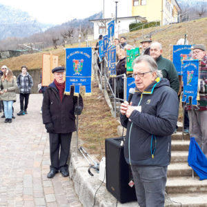 """19. Onore ai minatori e ricordo del loro sacrificio. Partecipato il """"50.mo del Viale delle lampade"""" spente a San Gregorio nelle Alpi"""
