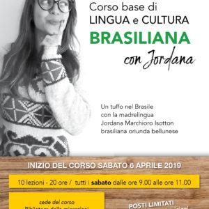 84. Ancora posti disponibili per il corso base di cultura e lingua portoghese brasiliana organizzato dall'Abm con la partecipazione della madrelingua Jordana Isotton Marchioro