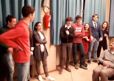 L'intervento degli studenti.