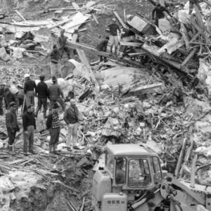 """231. L'Associazione Bellunesi nel Mondo, con la Famiglia """"Monte Pizzocco"""", ricorda il 54° anniversario della tragedia di Mattmark"""