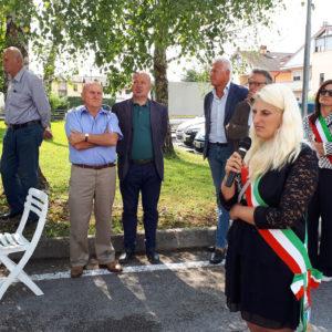 L'intervento del vice sindaco di Sedico, Gioia Sacchet.