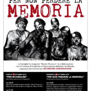 """251. Appuntamento a Sospirolo con l'emigrazione, grazie all'iniziativa della Famiglia ex emigranti """"Monte Pizzocco"""""""