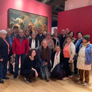 La comitiva in visita al Museo Fulcis di Belluno