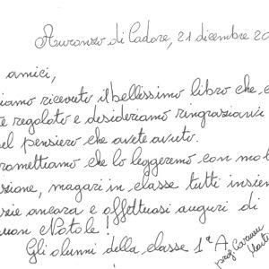 """298. L'Abm riceve i ringraziamenti da parte degli alunni delle scuole medie di Auronzo di Cadore per il libro didattico """"Un mondo da scoprire. Info, appunti e ricordi sull'emigrazione"""""""