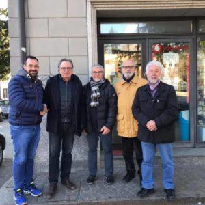 Da sinistra Patrick Zancanaro, Oscar De Bona, Antonio Dazzi, Dino Bridda e Ubaldo Piaia.