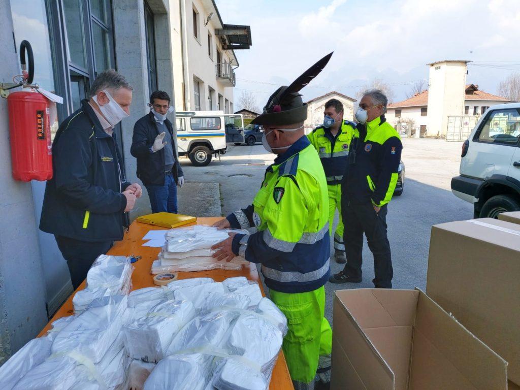 Consegna mascherine in provincia di Belluno