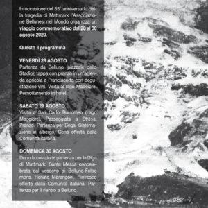 30. 55° anniversario della tragedia di Mattmark. L'Abm organizza un viaggio
