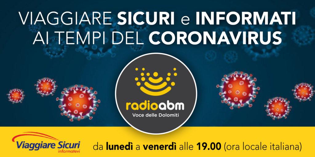Viaggiare sicuri e informati ai tempi del coronavirus