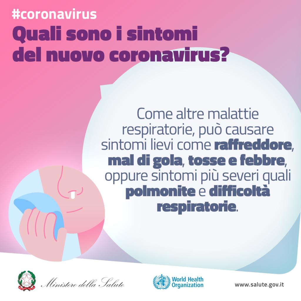 Quali sono i sintomi del coronavirus?