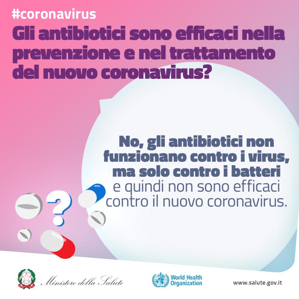 Gli antibiotici sono efficaci nella prevenzione del trattamento del nuovo coronavirus?