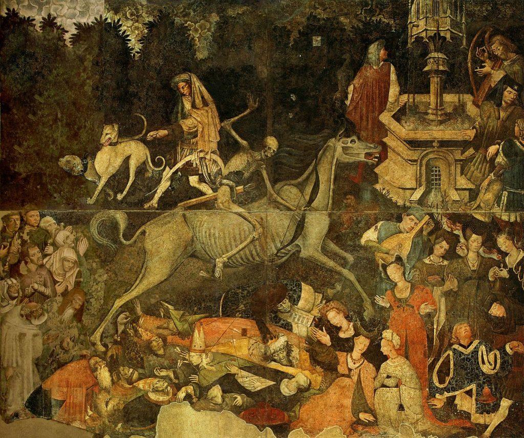 Trionfo della morte. già a palazzo Sclafani, galleria regionale di Palazzo_Abbatellis, Palermo (1446)