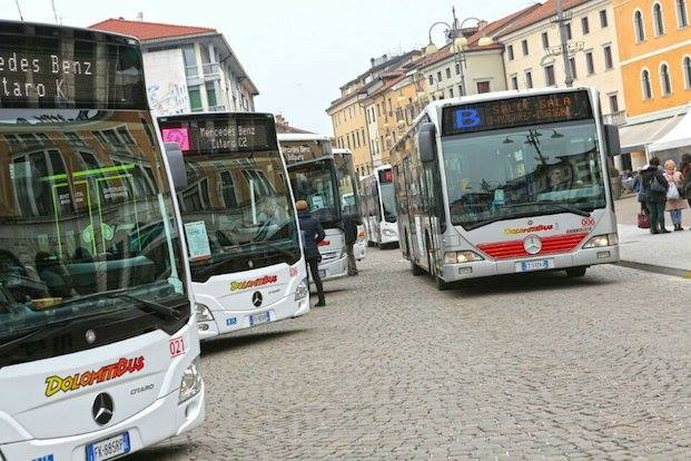 Dolomitibus. Ancora fermo il servizio di trasporto per le zone industriali di Sedico e Agordo. Riprende invece la linea Feltre – Pedavena