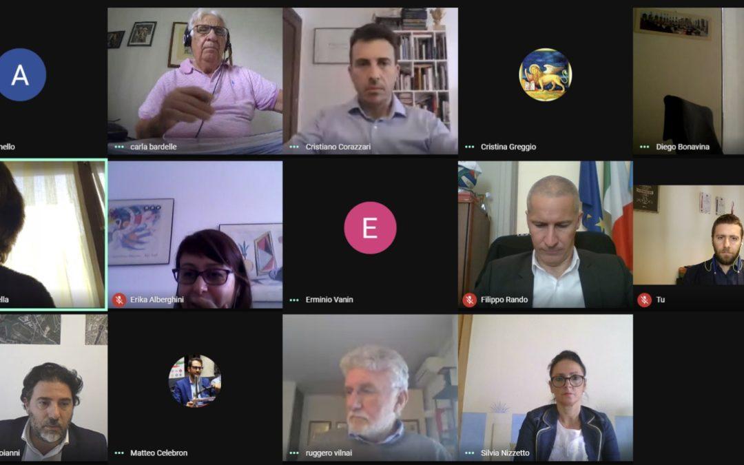 """L'assessore regionale Cristiano Carazzari incontra gli assessori allo sport dei capoluoghi veneti per discutere sulla """"Fase 2"""""""