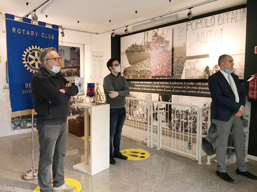 Da sinistra Oscar De Bona, Marco Crepaz e Felice Gaiardo
