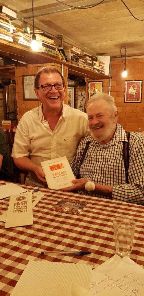 Nella foto, seduto, Darcy Loss Luzzato con Paulo Jose Massolini presidente della Fibra
