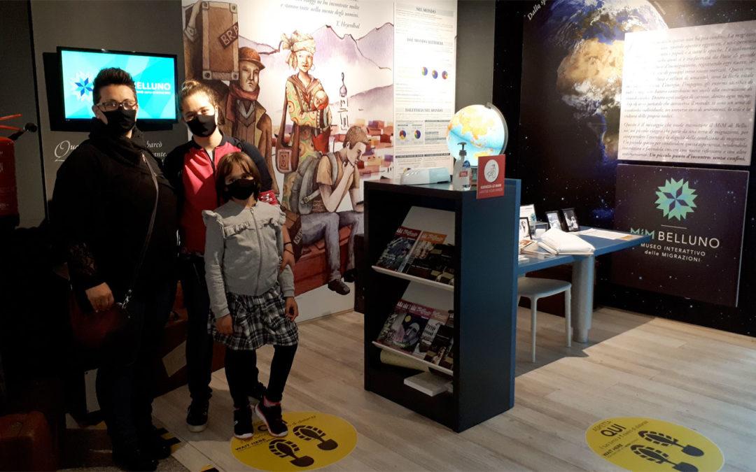 Fase 2. Il Museo interattivo delle Migrazioni riapre. A fare la prima visita una famiglia bellunese