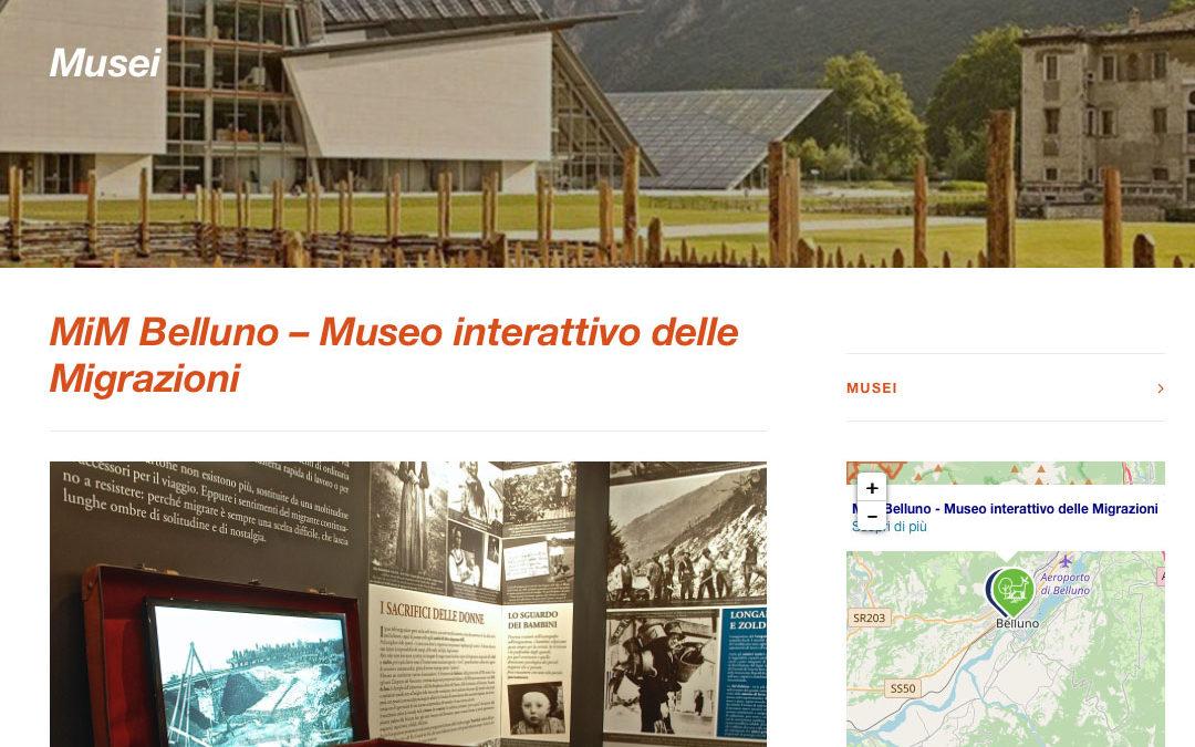"""43. Il MiM Belluno – Museo interattivo delle Migrazioni – entra nella rete """"Musei"""" della Fondazione Dolomiti Unesco"""