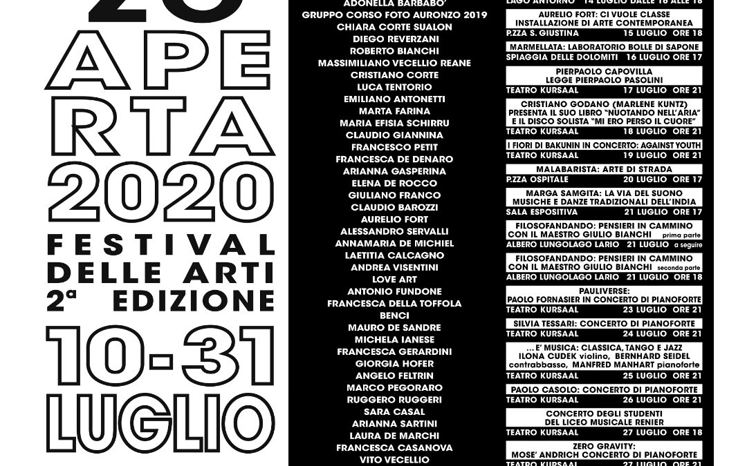 Auronzo Aperta e Lorenzago Aperta: sei settimane di cultura in montagna