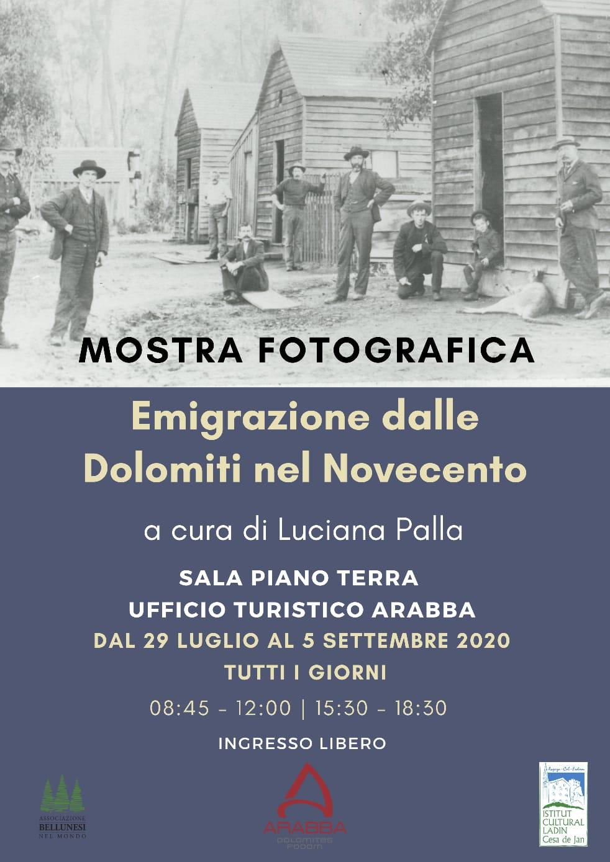 """Mostra fotografica """"Emigrazione dalle Dolomiti nel Novecento"""""""