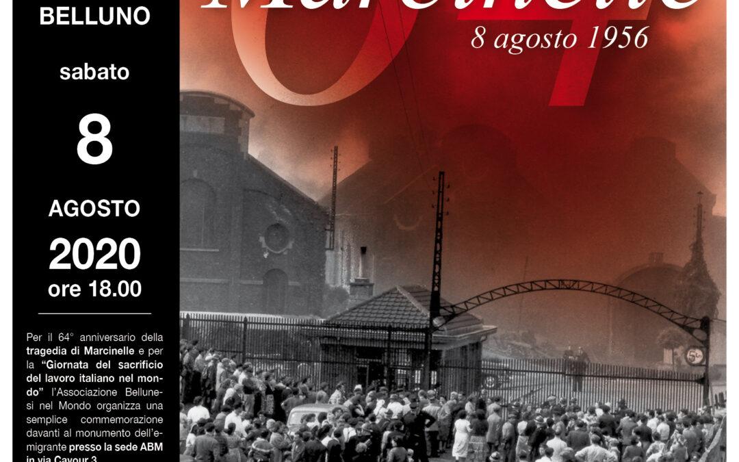 """60. L'Associazione Bellunesi nel Mondo commemora il 64° di Marcinelle e la """"Giornata del sacrificio del lavoro italiano nel mondo"""". De Bona: «Garantiremo la diretta Facebook per chi non potrà partecipare causa Covid-19»"""