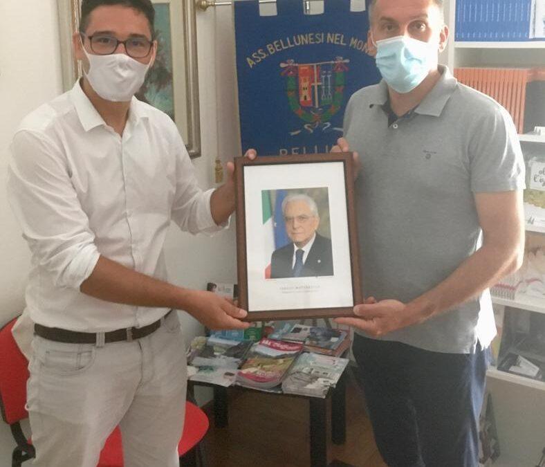 62. L'on. Roger De Menech consegna alla Sede ABM la foto del presidente della Repubblica Sergio Mattarella