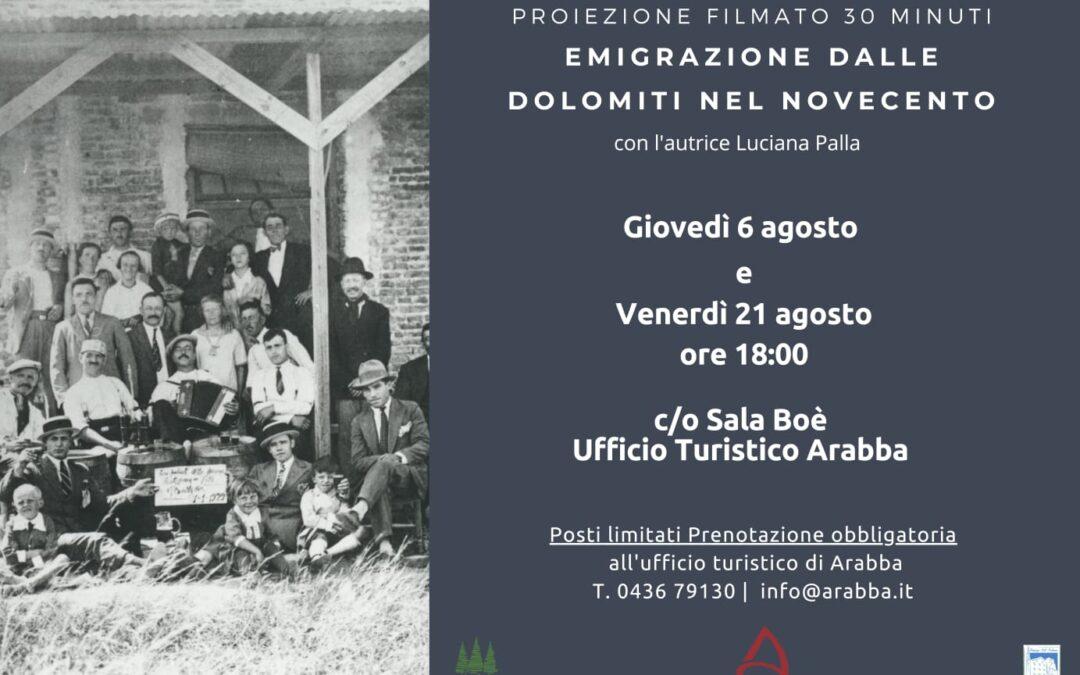 """63. """"Emigrazione dalla Dolomiti nel Novecento"""". Ad Arabba il docufilm"""