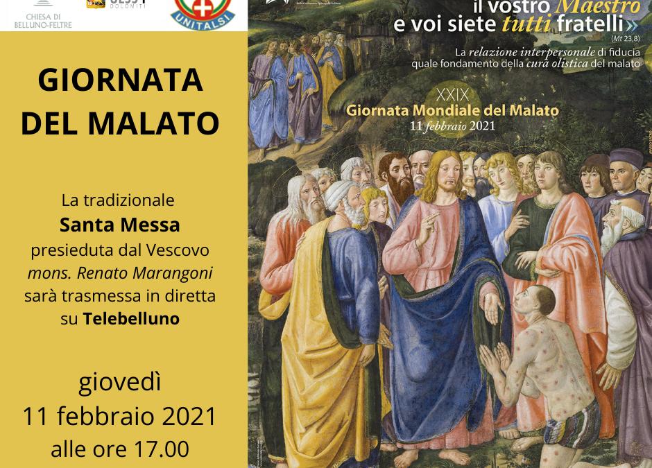 XXIX Giornata del Malato: messa del Vescovo  in diretta TV