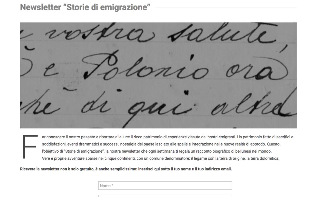"""21. """"Storie di emigrazione"""". Questa settimana parte la prima newsletter del Centro Studi sulle migrazioni """"Aletheia"""" – ABM"""