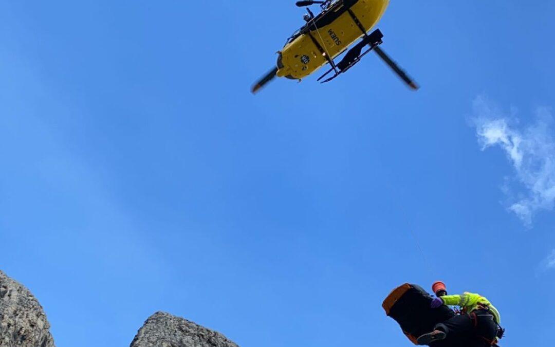 Grave alpinista tedesco precipitato sotto la Torre piccola di Falzarego