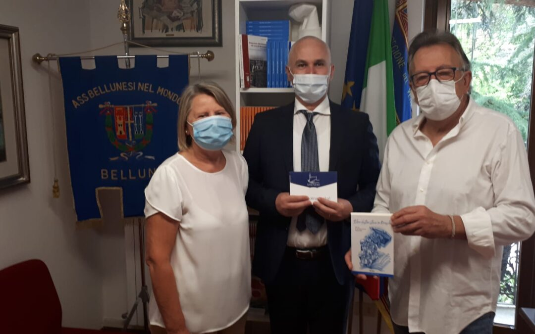 Albert Nikolla, vice ministro albanese, torna in visita nel Bellunese con un passaggio anche alla sede Abm