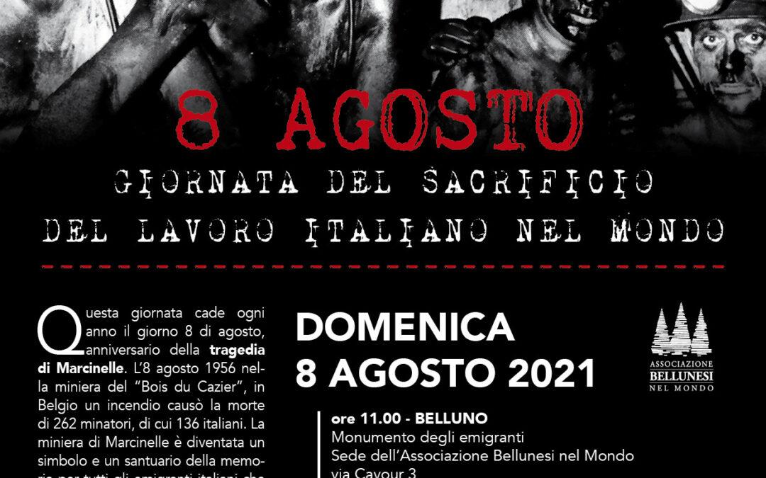 """27. L'Associazione Bellunese nel Mondo celebra la """"Giornata del sacrificio del lavoro italiano nel mondo"""""""
