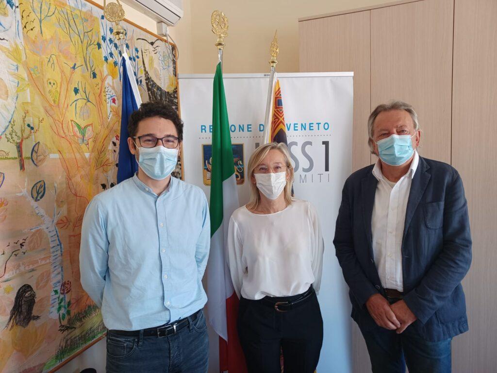 Da sinistra Marco Crepaz, Maria Grazia Carraro e Oscar De Bona.